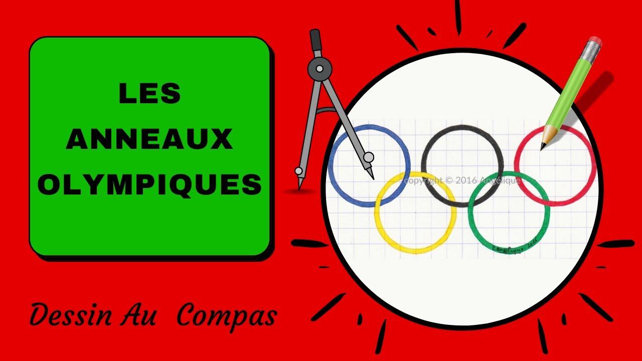 Dessin au compas 23 les anneaux olympiques youtube - Anneaux jeux olympiques ...