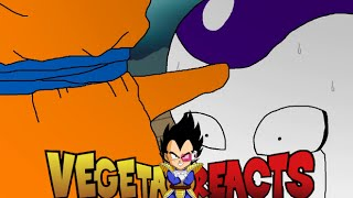 Vegeta reacts to res erection 'f'
