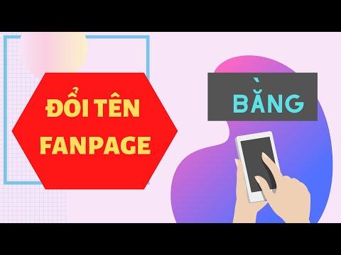 Hướng Dẫn Đổi Tên Fanpage Bằng Điện Thoại