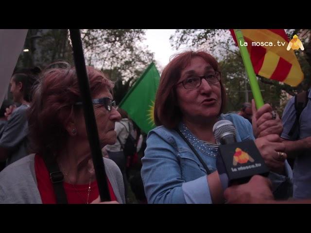 Manifestació contra invasió turca al kurdistan de Siria.