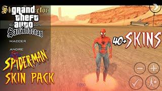 HUGE SKINPACK!!!!Spider - Man Skinpack - GTA San Andreas Android