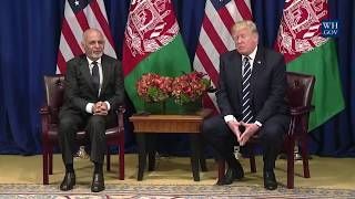 President Trump Participates in a Meeting with the President of Afghanistan