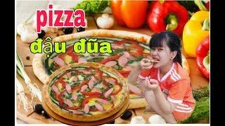 Pizza Đậu Đũa mới lạ Siêu ngon/ Pizza left cowpea Super delicious.
