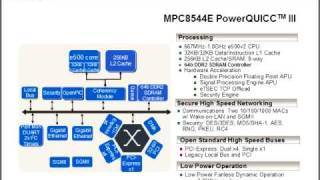 MPC8544E PowerQUICC™ III