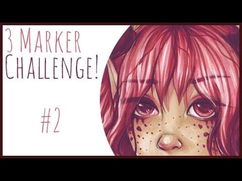 3 Marker Challenge #2 - With Copics!