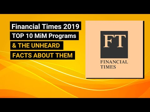 Top 10 Masters In Management Program | FT Ranking 2019 | MiM-Essay