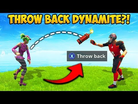 *NEW TRICK* THROW DYNAMITE BACK! - Fortnite Funny Fails and WTF Moments! #397