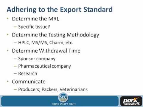 Dr. Steve Larsen - Differing National Maximum Residue Levels