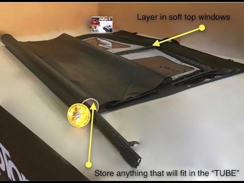 Wrangler Soft Top Window Storage