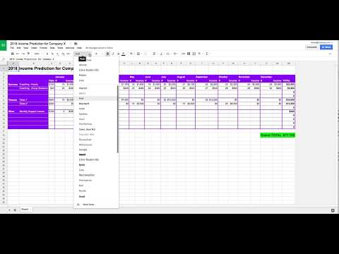 Create a Simple Spreadsheet to Predict Your Income