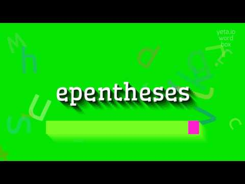 Vowel epenthesis in english
