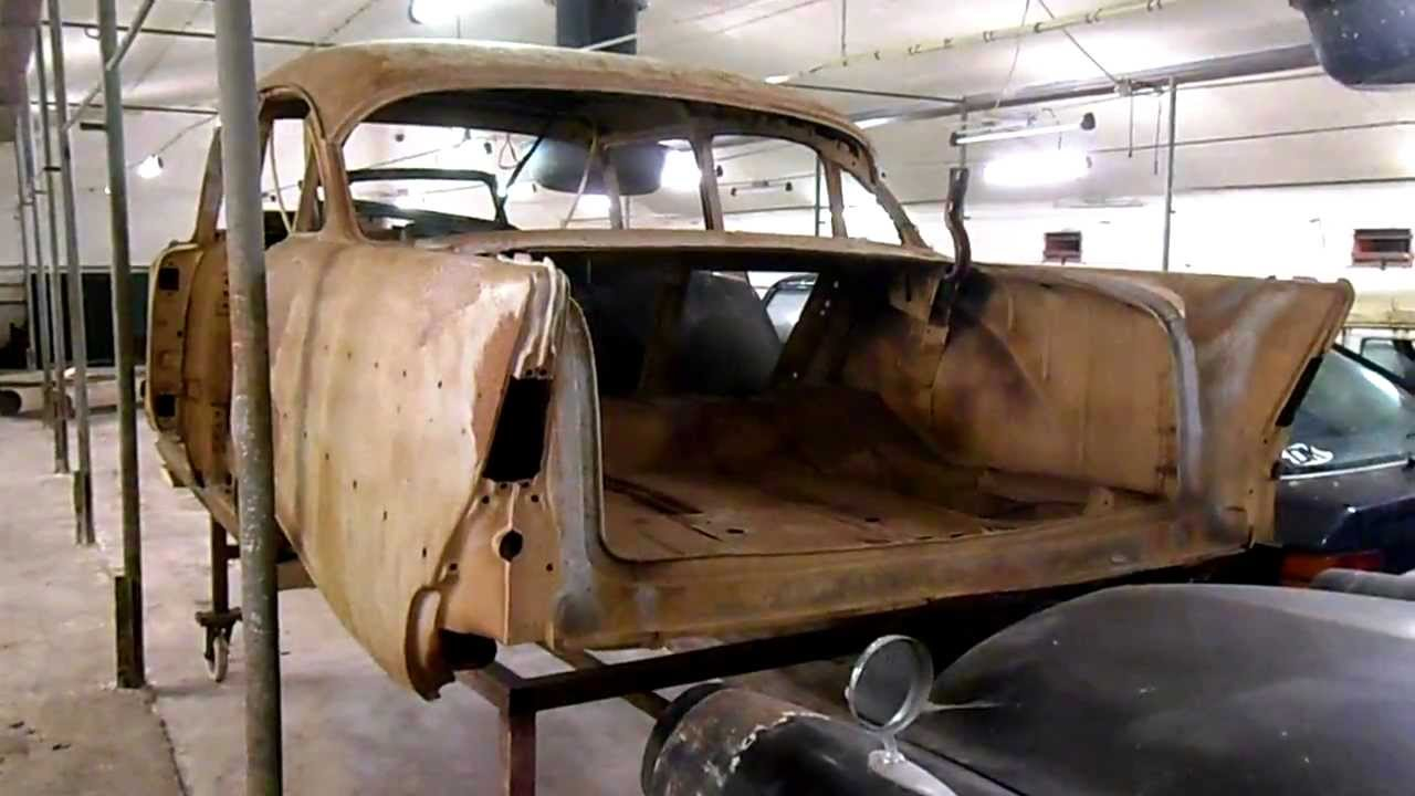 Chevrolet Bel Air >> NOS 1957 Chevrolet Sedan body. - YouTube