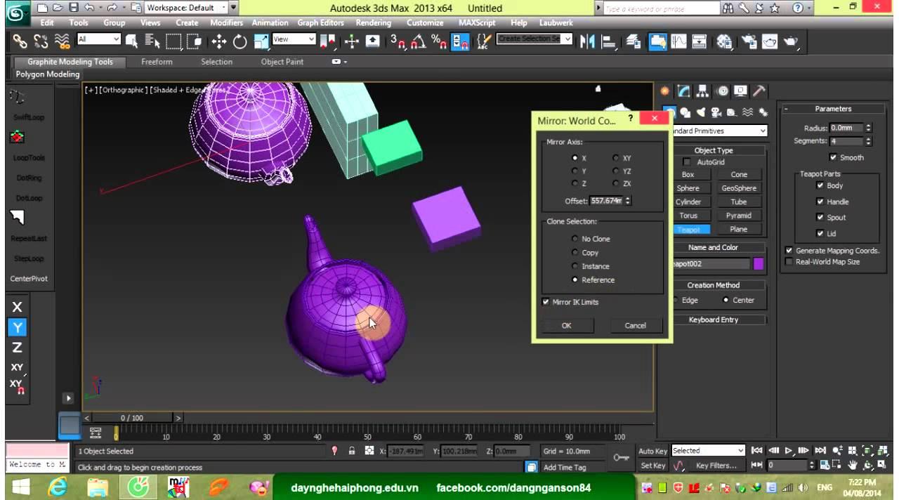 Học 3Ds Max Cơ bản và Nâng cao – Bài 1 Bắt đầu