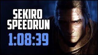 SEKIRO Speedrun in 1:08:39 (Immortal Severance)