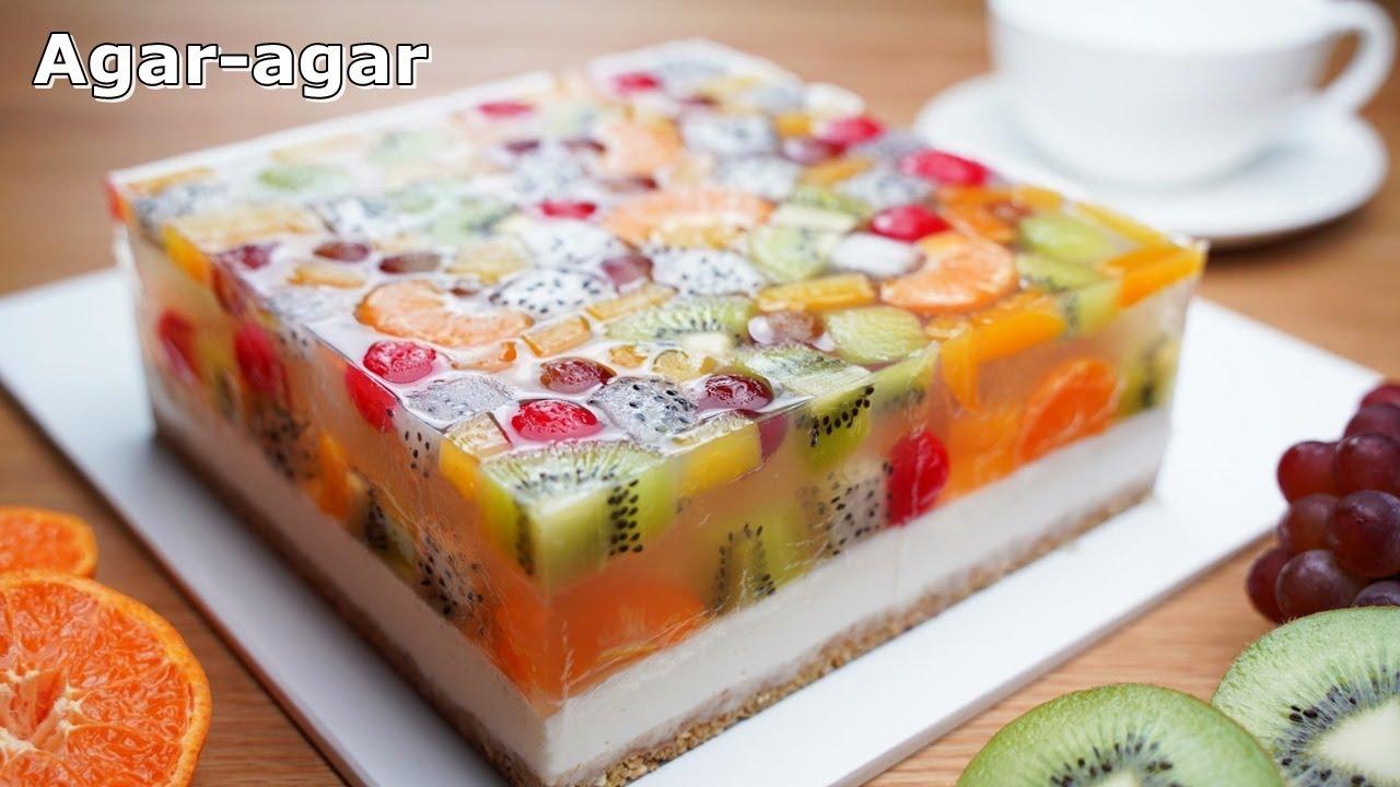 No-Gelatin / No-Egg / 과일 젤리 치즈케이크 / Agar Jelly Fruit Cake Recipe / No-Oven / 컵 계량 / Easy Recipe