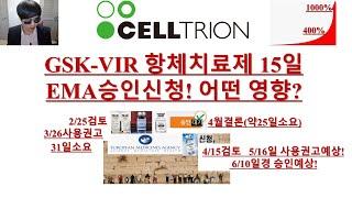 [주식투자]셀트리온(GSK-VIR 항체치료제 15일 E…