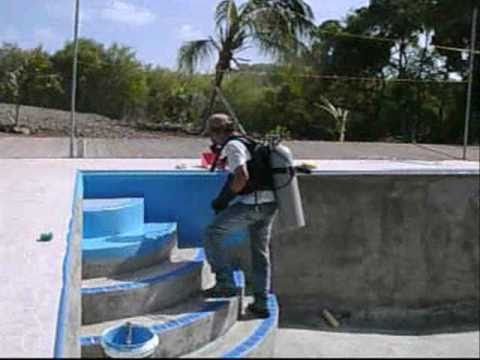 Pool selber bauen beton fliesen  Curacao Pool.wmv - YouTube