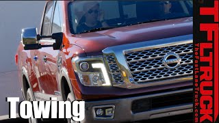 2016 Nissan Titan XD Cummins First Tow: Real World Towing MPG Review
