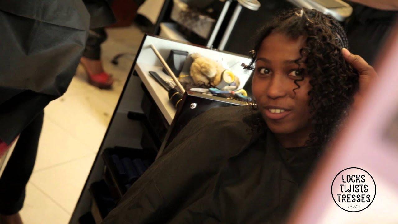 Bien-aimé Pose de Mèches Brésiliennes frisées sur cheveux naturels-Locks  HN68