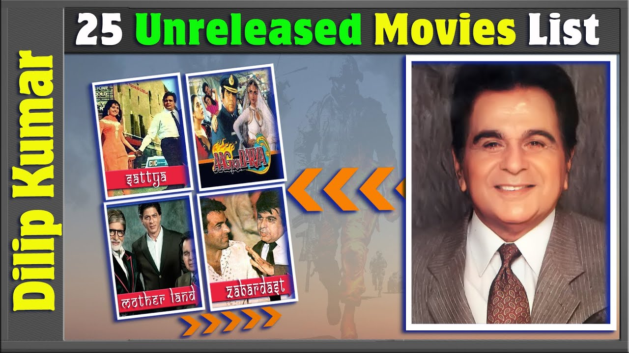 Download Dilip Kumar 25 Incomplete or Shelved Films | Dilip Kumar Unreleased Movies List | Bollywood Films.