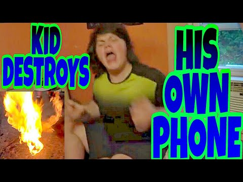 KID BURNS HIS OWN PHONE OVER A PRANK!?!?
