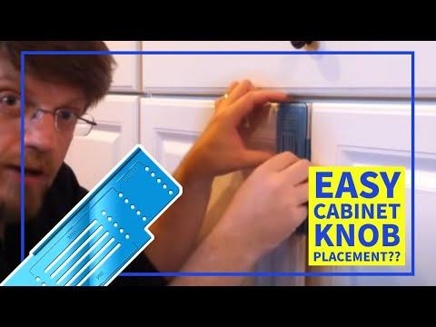 Install Cabinet Door Knobs
