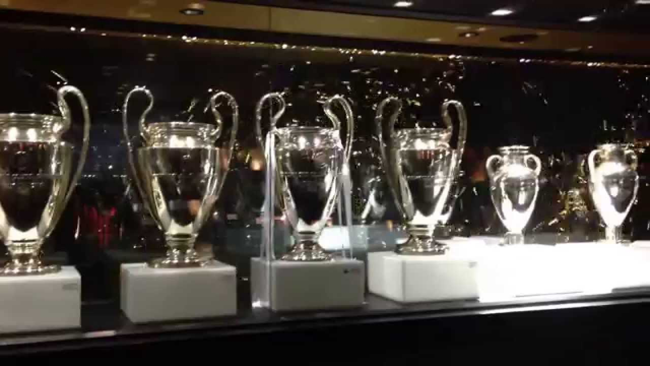 Real Madrid Museum All the Champions League Cups 21 04 ...