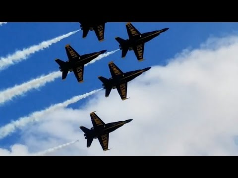 US Navy Blue Angels Performance At Th California Capital Airshow Oct 2, 2016