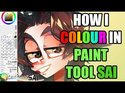 How I Colour In Paint Tool SAI (BASIC TUTORIAL)