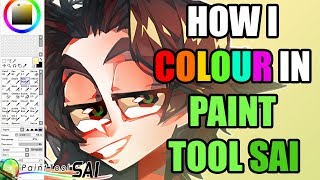 How I colour in Paint Tool SAI (BASIC TUTORIAL)