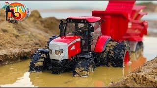 TRAKTOR BRUDER MUD trouble! | McCormick big tractor FARM Day