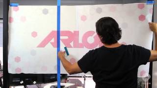 Wet Application of a Window Graphic