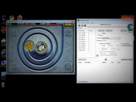 Zuma Deluxe Live And Point Hack (Cheat Engine 5.5)