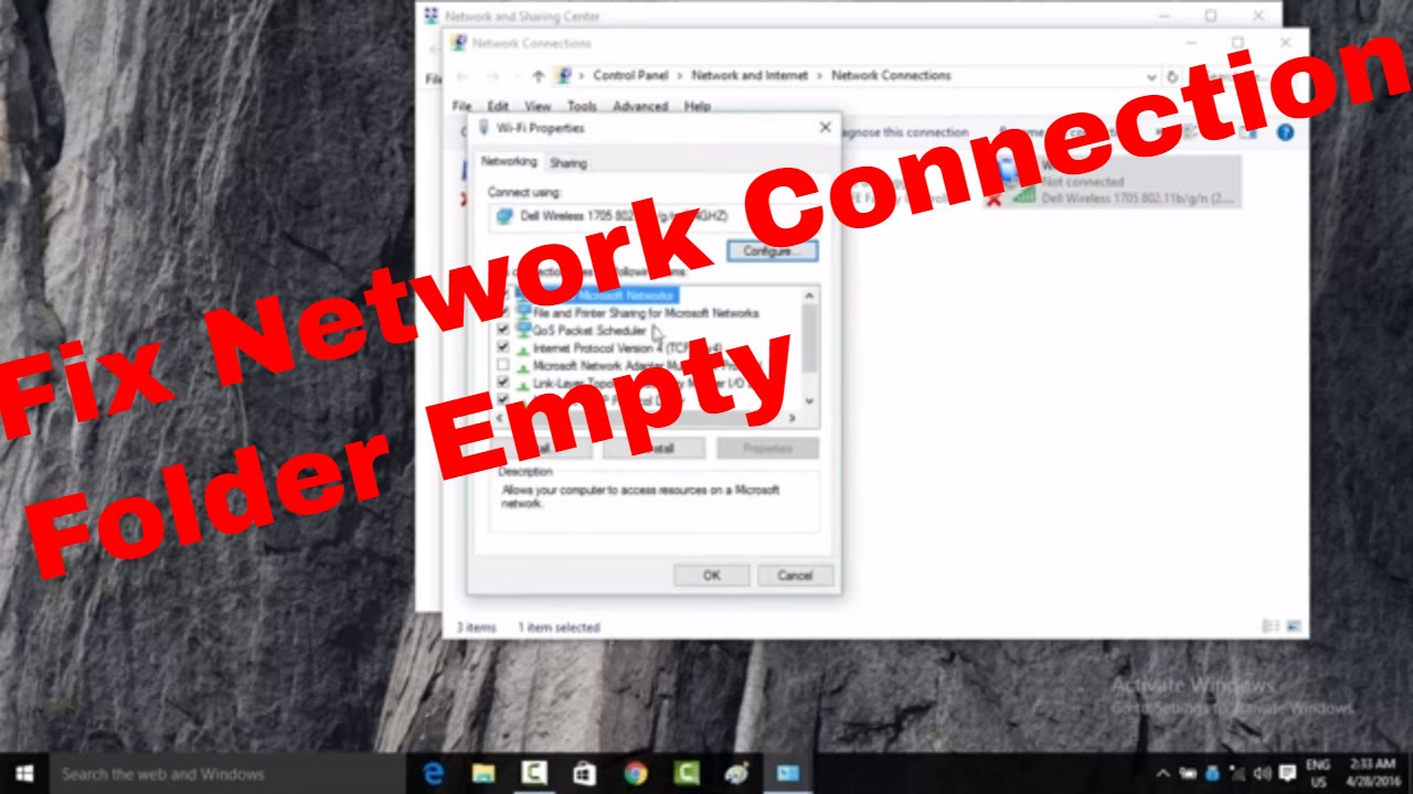 14 How to Fix Network Connection folder Empty in windows 10