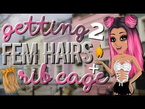 2 FEM HAIRS + RIB CAGE!! Rare Trading!