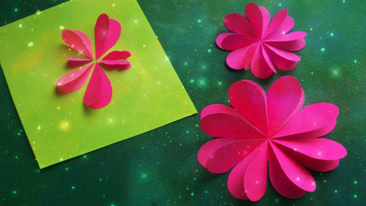 Как делать цветы на открытку своими руками из бумаги, пятница