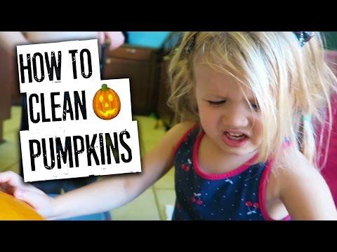 😆🎃HOW TO CLEAN A PUMPKIN