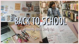 BACK TO SCHOOL 2019 ; Shopping, Haul & Study Tips //  [Indonesia] ENG SUB