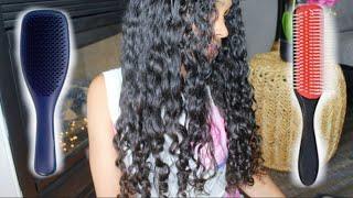 DENMAN BRUSH vs TANGLE TEEZER ULTIMATE DETANGLER BRUSH | Which Tool is Best for Naturally Curly Hair