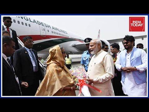 PM Modi Receives Bangladesh PM Hasina At Delhi Airport