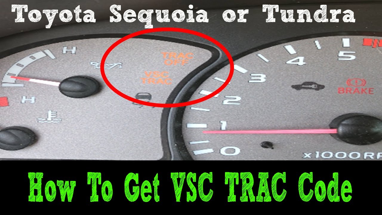 How To Read Vsc Codes Toyota Sequoia Tundra 2001 2007 Stability Control Abs Youtube