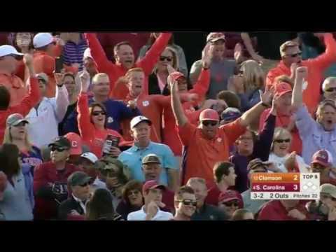 Seth Beer HR vs South Carolina 3-5-2017 Clemson Radio call
