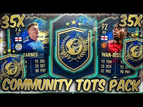 WAHNSINN! 35x GARANTIERTE COMMUNITY TOTS PACKS in FIFA 21