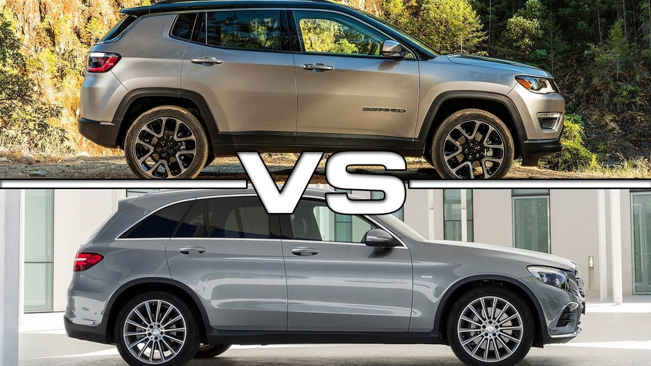 2017 jeep compass vs 2016 mercedes glc - youtube