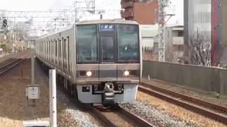 JR神戸線207系甲南山手駅到着