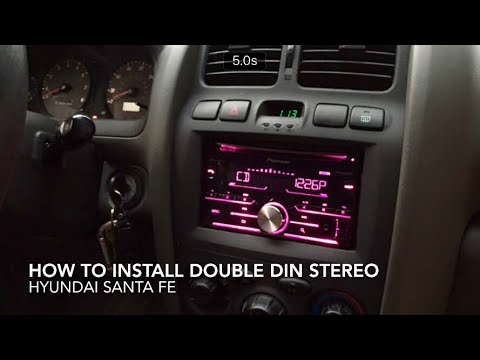 How to replace and install stereo in Hyundai Santa Fe - YouTube