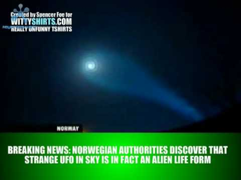UFO in Norway Lights Up The Sky in Spiral Form as Obama Arrives - PROOF OF ALIEN LIFE!