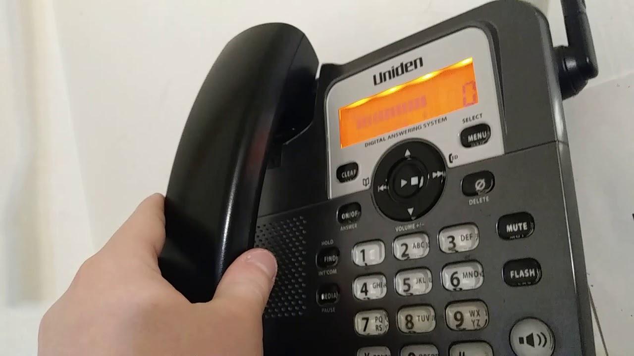 uniden dect 1588 main base telephone youtube rh youtube com Uniden Answering Machine Manual Uniden Answering Machine Manual