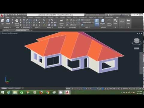 Autocad 3d House Modeling Tutorial Beginner Part 1 Basic New 2015