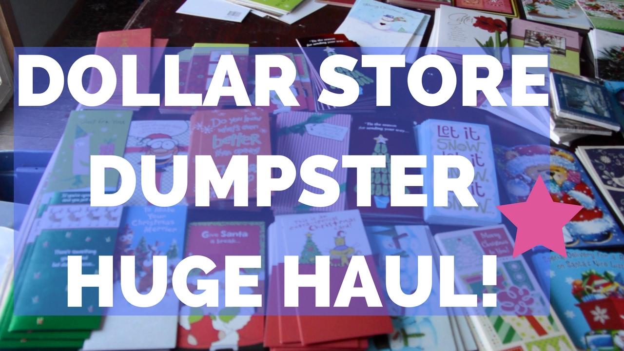 Dollar Store Dumpster Diving HUGE Haul 1000 Greeting Cards